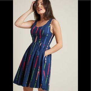 ModCloth Optimistic Effect Sleeveless Dress Size M